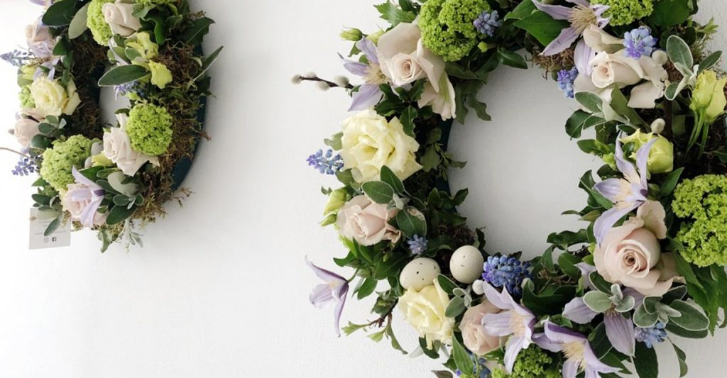 Flower door wreaths