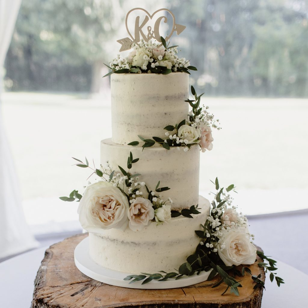 Naked wedding cake derby