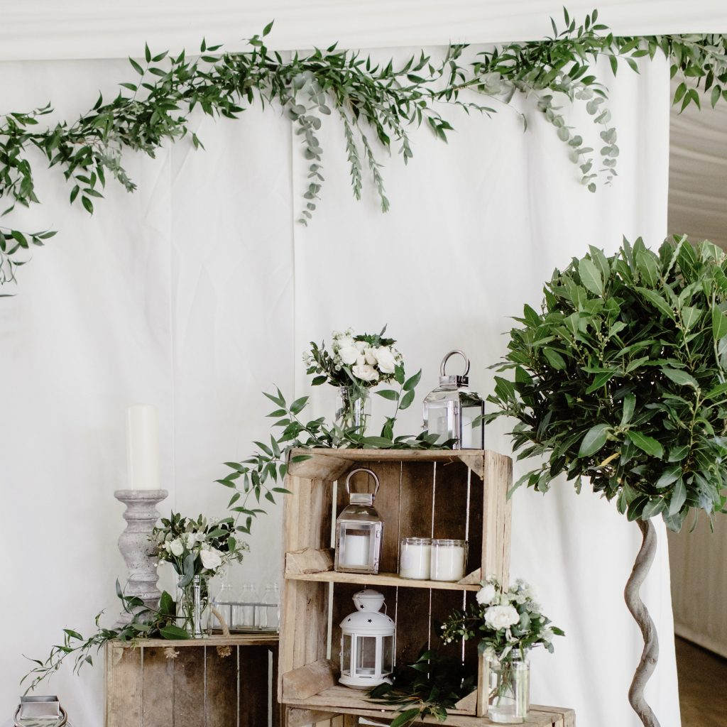 Greenery garland backdrop