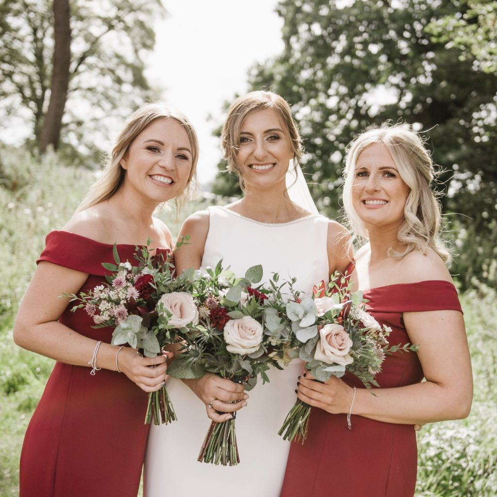 burgundy wedding flowers derby