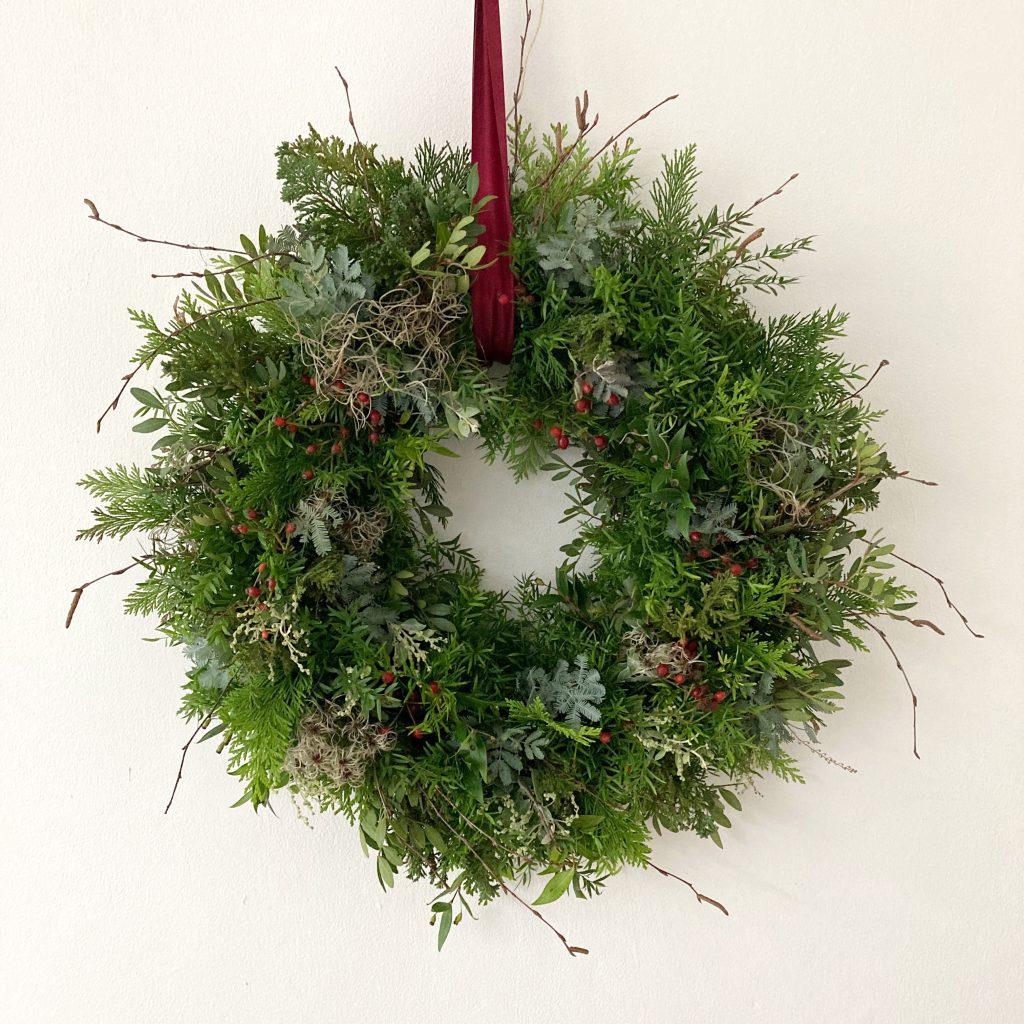 Christmas door wreath derby