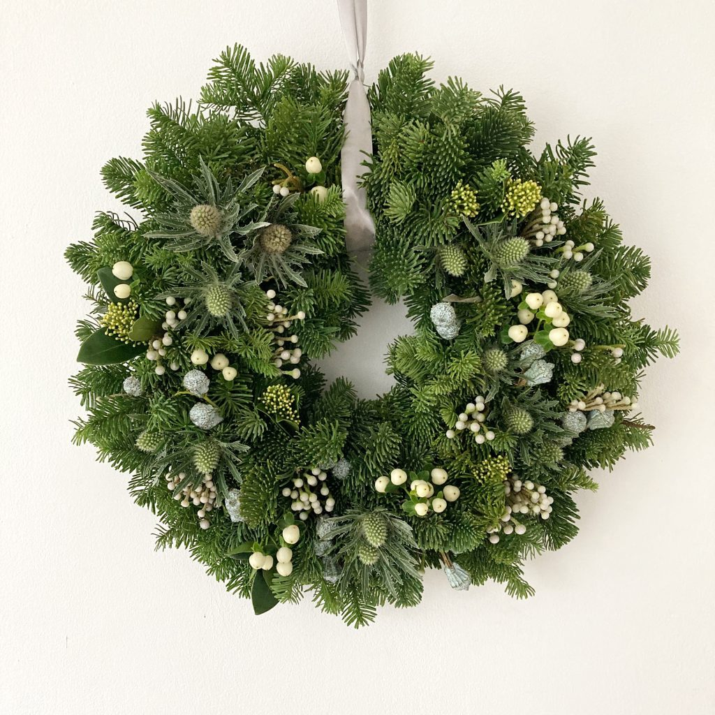 christmas door wreath derby